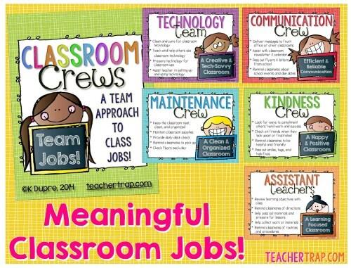 Modern Classroom Jobs ~ Classroom jobs teacher trap