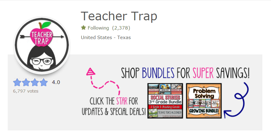 Teacher Trap TPT Store