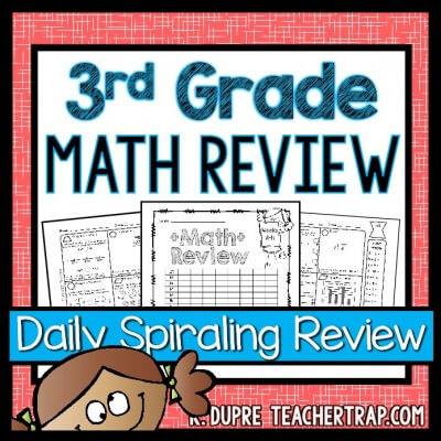 3rd grade math review cover